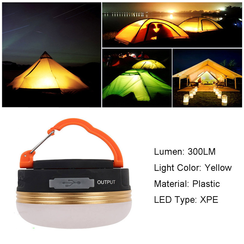 New USB Rechargeable Portable LED Camping Lantern Tent Light Charger Outdoor Sports Bike Bicycle Accessories Quality Oct 30
