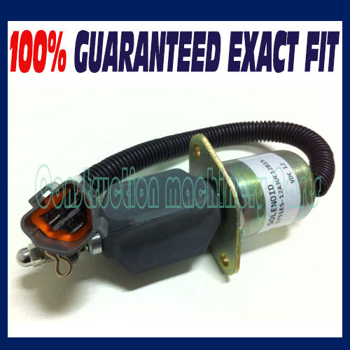 Fuel Shutdown Solenoid Valve 1751ES-12A3UC12B1S SA-4673-S 129953-77811 for Hyundai Excavator R60-5 Yanmar engine model 4TNE-94 цена