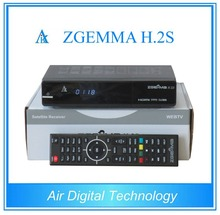 20 pcs/lot Dual core CPU Digital satellite tv receiver ZGEMMA H.2S Twin tuner DVB S2&S with iptv function no dish