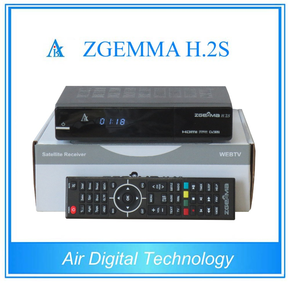 20 pcs/lot Dual core CPU Digital satellite tv receiver ZGEMMA H.2S Twin tuner DVB S2&S with iptv function no dish 10pcs zgemma star i55 support satip iptv box bcm7362 dual core mainchipset 2000 dmips cpu linux enigma 2 hdmi connection