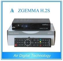 20 pcs lot Dual core CPU Digital satellite tv receiver ZGEMMA H 2S Twin tuner DVB