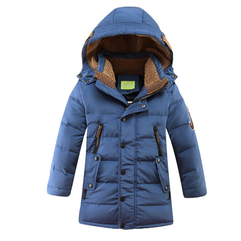 Fashion long style winter down jacket for boys children's warm Thickening down coat boys park clothing kids outwear DW1