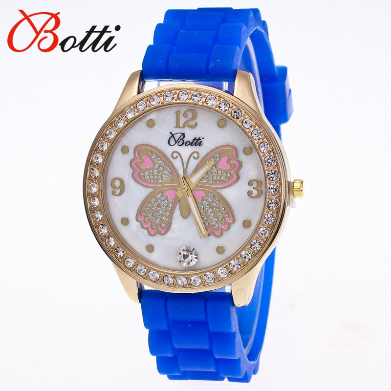 11.11 Hot Sale New Luxury Brand Silicone Watch Women Dress Quartz Watch butterfly Rhinestone Bracelet Watches Relogio Feminino цена