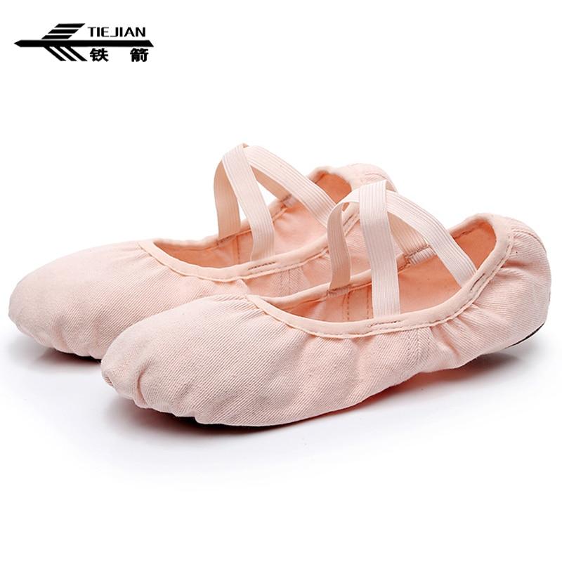 TIEJIAN Stretch Cloth Dance Shoes Zapatos Adult Girls Yoga Ballet Shoes Performance Practice Balett Shoes Chaussures De Danse 11