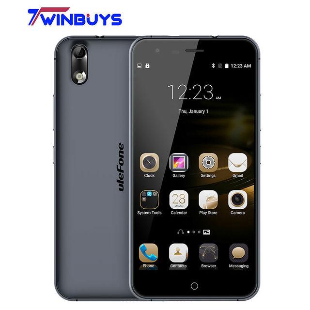 Ulefone Paris Lite Smartphone 5 inch HD 1280x720 IPS MTK6580 Quad Core Android 6.0 1GB RAM 16GB ROM 13MP CAM OTG 3G Mobile phone