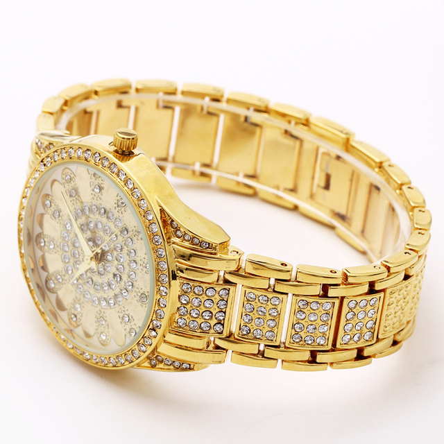 Crystal Dial Wrist Watch for Women