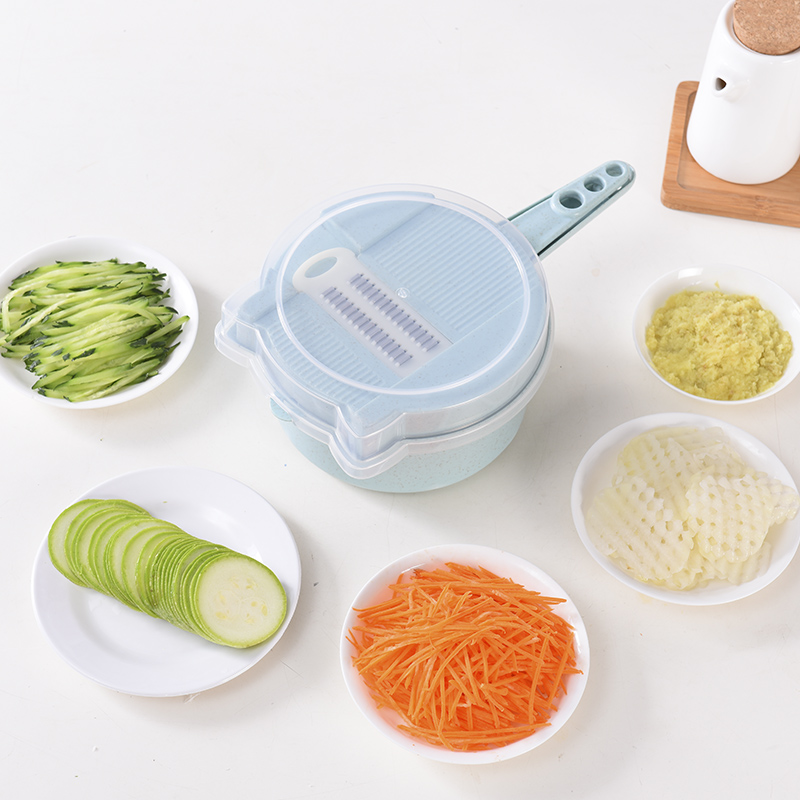 ONEUP 11 en 1 multifunción cortador de verduras con 4 palas de patata zanahoria queso rallador cortador de cocina Accesorios