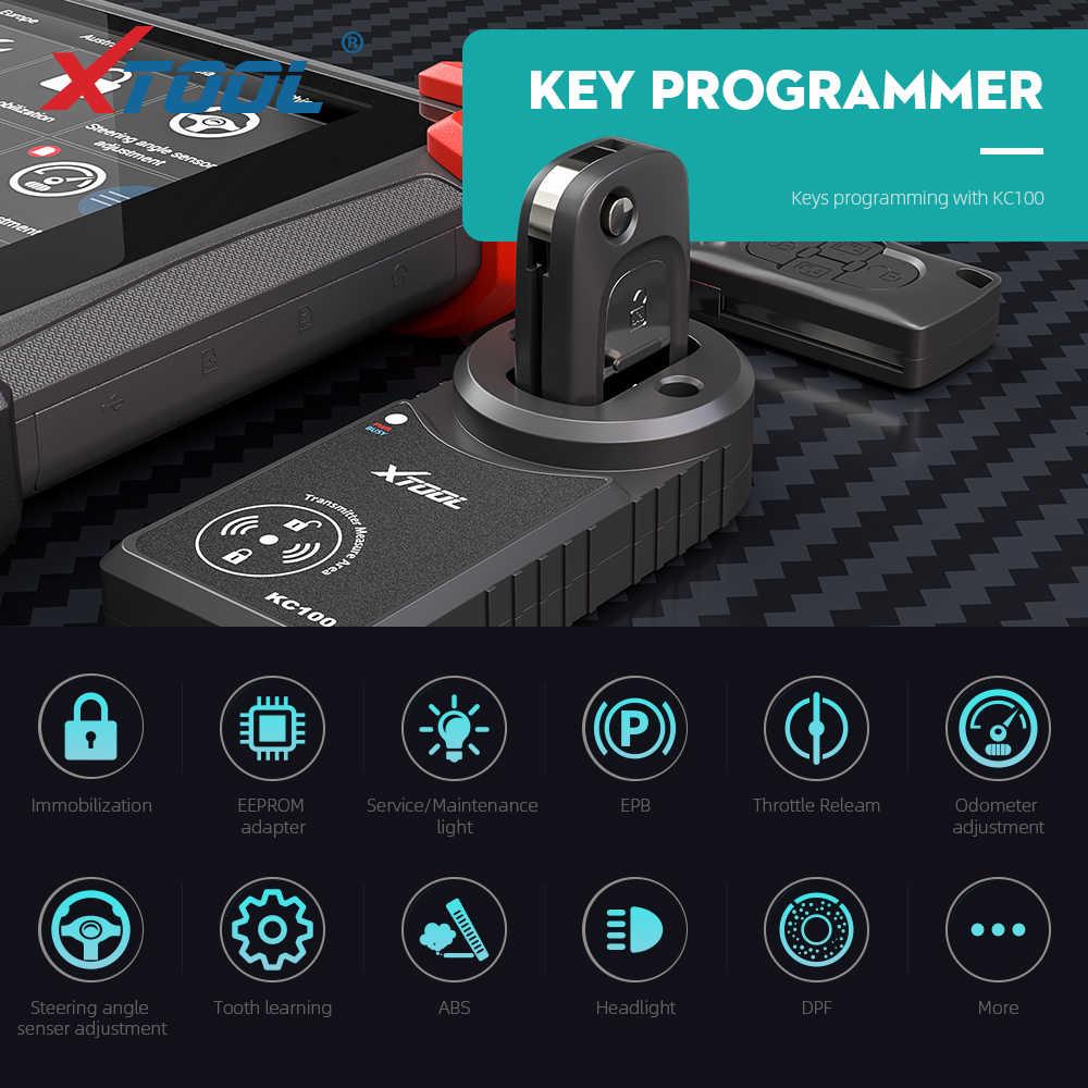 XTOOL PS90 Автоматическая диагностическая система obd2 ключ программатор инструмент одометр Регулировка полная система Android EPB ABS DPF обновление онлайн Новинка