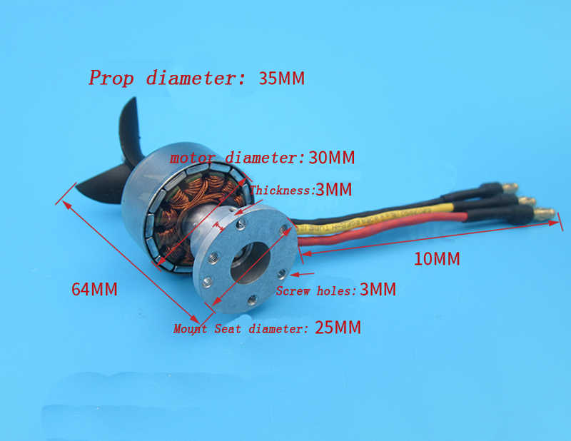 RC Fishing Boats 4130 Motor Underwater Thruster Sprayer Pump Thruster ROV  Thrusters for Sale for RC Boat Jet Turbine Engine