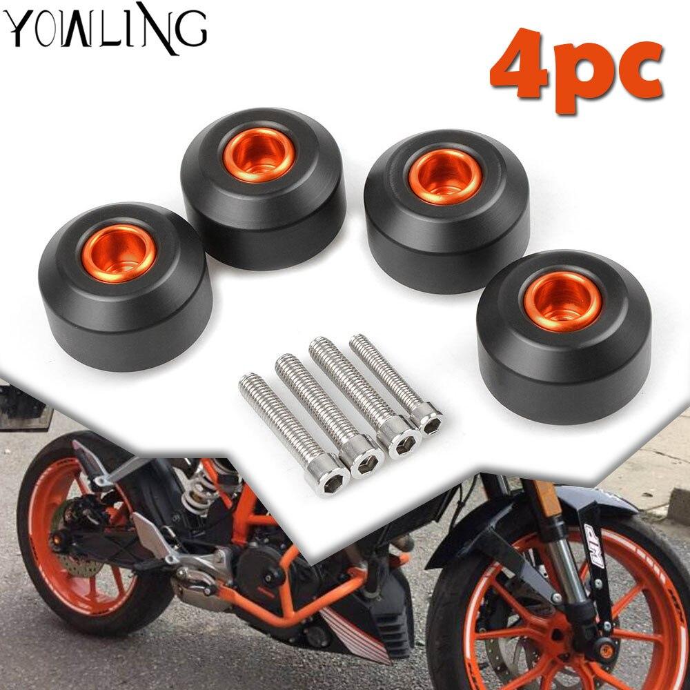 Front Rear Motorcycle Fork Frame Wheel Sliding Crash Pads Falling Protection for KTM DUKE125 DUKE 200 DUKE390 duke 200 390