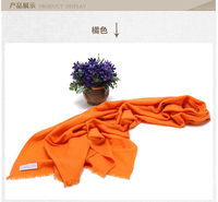 100 Cashmere Blue Orange Scarf Women S Wrap Solid Gray Beige Red High Quality Natural Fabric