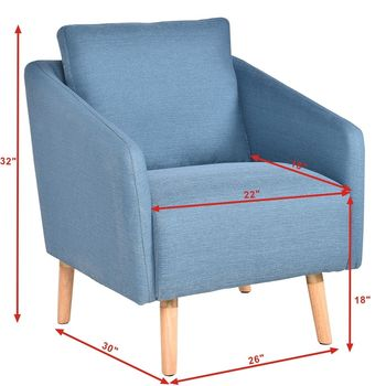 Upholstered Arm Chair Single 1