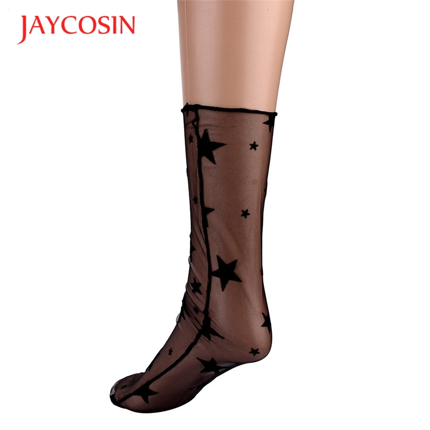 New Fashion  Kancoold Coolbeener New Ultra-thin Elastic Silky Short Silk Women start Lace Ankle Socks mar3 Drop Shipping