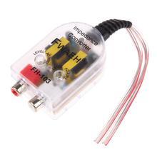 Vodool 12 в автомобильный стерео радио динамик высокой и низкой линии RCA аудио сопротивление конвертер преобразователь усилителя автомобиля Стайлинг
