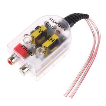 12V Car Stero Radio Speaker High To Low RCA Line Audio Impedance Converter Vehicle Amplifier Converter Car Styling