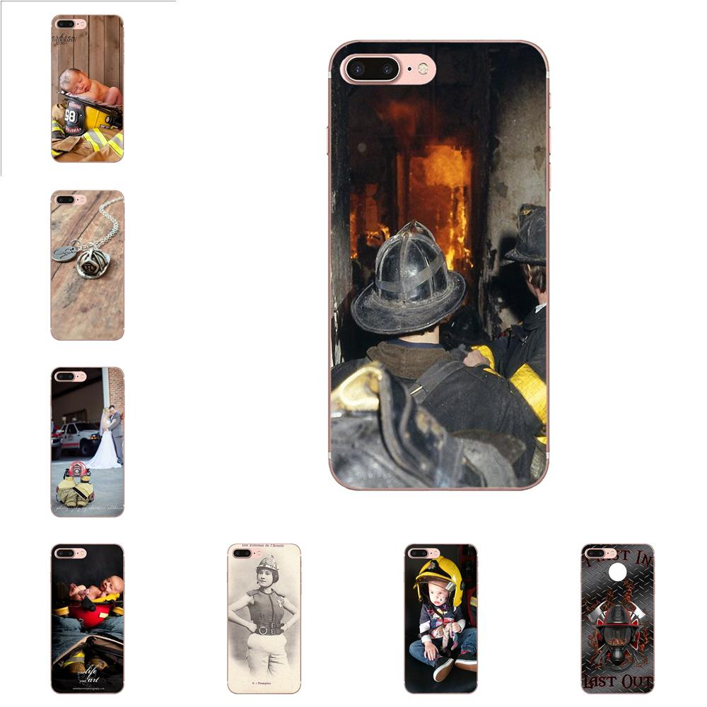 On Sale Luxury Mobile Phone Shell For Xiaomi Redmi Note 2 3 3s 4 4a 4x 5 5a 6 6a Pro Plus Firefighter Fireman Fire Helmet Attractive Fashion