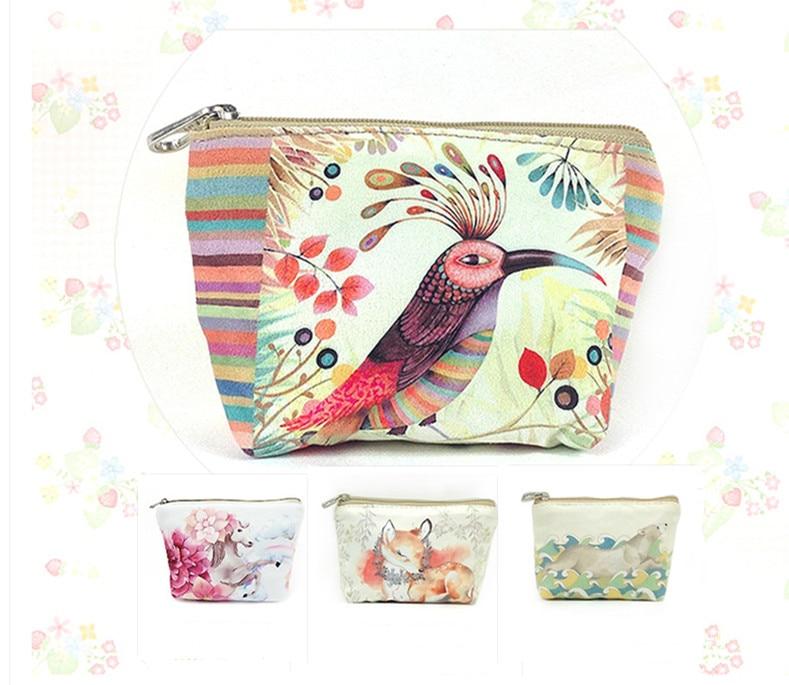 Women Wallet Cute Canvas Coin Purse Travel Organizer 11 Color Floral Women Storage Bag Day Clutch Card Holders Women Purse H14