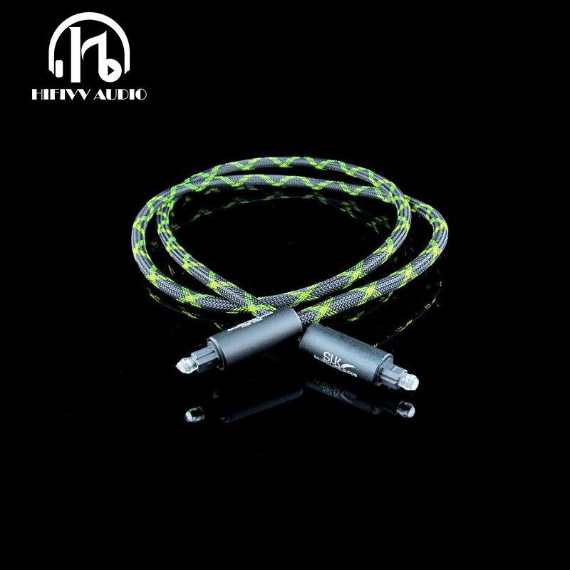 US $26 6 5% OFF Hifivv audio Optical Fiber Cable hifi hi end cable Audio  cable Rocketfish Digital Audio SLK Optical Fiber cable on Aliexpress com  