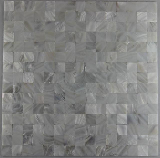 Bianco naturale mattonelle di mosaico delle coperture cucina ...