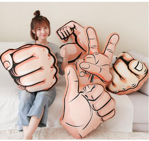 Personality boyfriend arm pillow muscle male plush toy arm pillow cartoon gesture cushion Funny doll