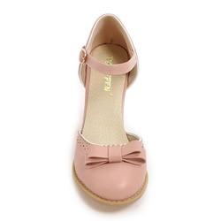 TAOFFEN Size 32-43 Women High Heels Sandals Leisure Buckle Strap Chunky Heel Shoes Women Summer Bowtie Sandalias Party Footwear 3