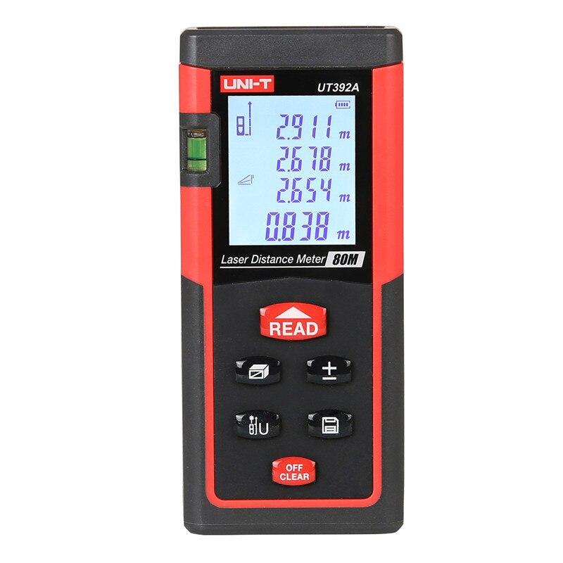 UNI-T UT392A Laser Distance Meters 80m Range Data Calculate Add Subtract Continuous Measurement UNIT Min 1.5mm Rangefinder unit ut395a ut395b ut395c laser distance meters 50m 70m 100m rangefinder best accuracy software data calculate continuous measur