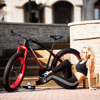 Fat Bike Speed Change Cross Country Mountain Bike 4 0 Super Wide Tires Snow Sand Bicycle