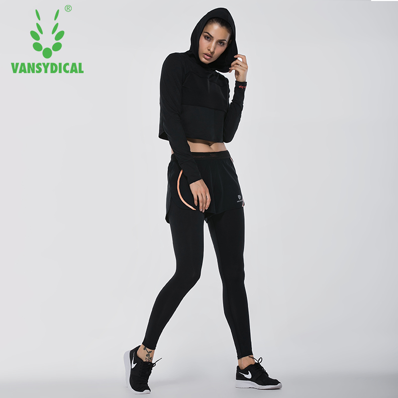2018 vansydical Trajes mujeres Ropa deportiva Mujer deportes Pantalones  fitness gym Sets para correr gimnasia ropa 6 unids en Correr Juegos de  Deportes y ... efca6d440a63