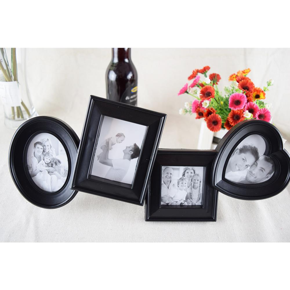 Collage Photo Frame Set New Family White/Black Picture Frames 4x6 ...