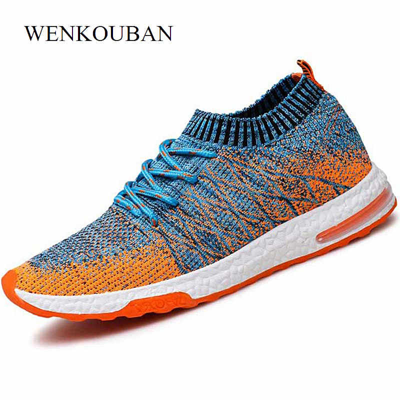 Air Socks Shoes Man Sneakers Lace Up Summer Men Running Shoes Sports Breathable Outdoor Athletic Men Trainers Zapatillas Hombre