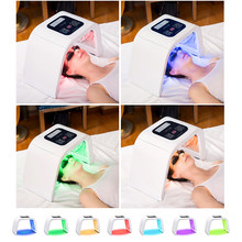 7 Colors PDF LED Light Mask Face Massager Therapy Skin Rejuvenation Device Spa Acne Remover Anti-Wrinkle Red Led Light Treatment(China)