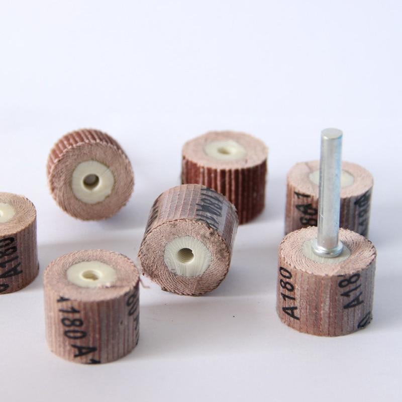 10 stks 12.7mm schuurpapier slijpschijf mini boor dremel gereedschap - Schurende gereedschappen - Foto 2