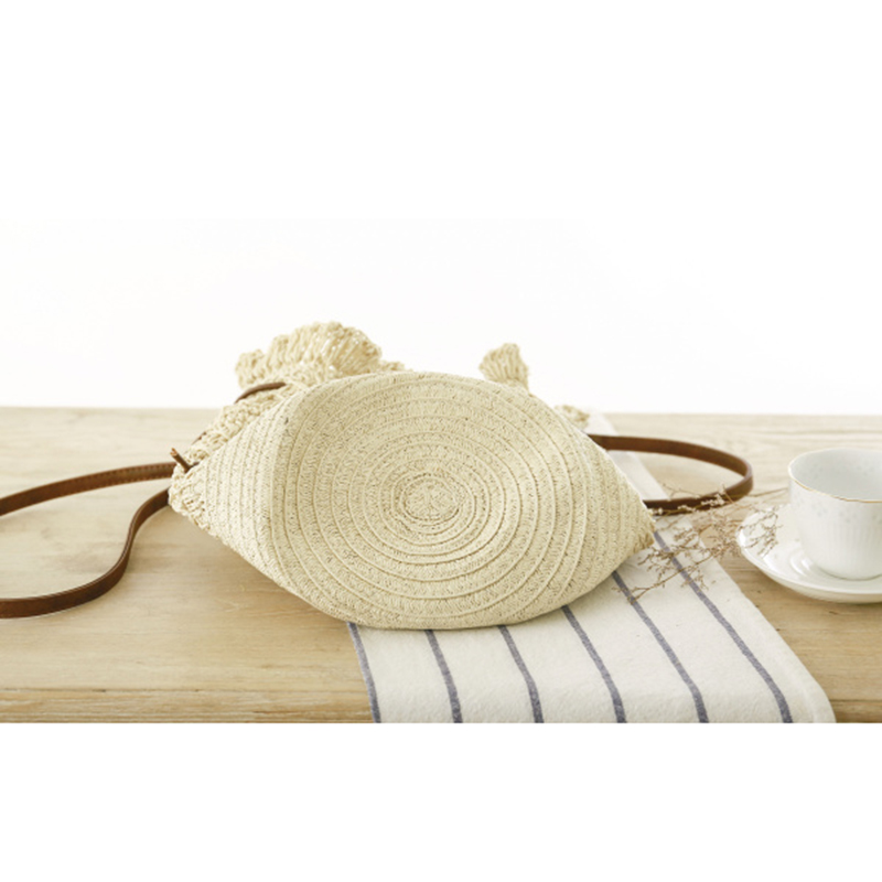 OCEHNUU Summer Flowers Beach Bag Woman Straw Shoulder Bag Woven Knitting Crossbody Bags For Women Messenger Bags Hollow Out 2020 4
