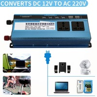 Vehemo Car Inverter 12v 220v To Power Inverters Cars DC AC Voltage Converter Auto 1200W Charger