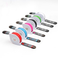 Spot phone dual in one data line can be customized LOGO dual purpose charging line I Android two in one telescopic data