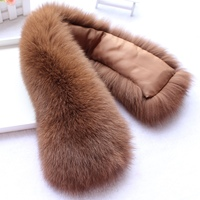 Natural Fox Fur Collar Scarf Ring For Winter Coat Fox Real Fur Neck Warmer Genuine Scarves