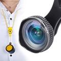 Apexel profesional hd lente super gran angular 0.63x 18mm retrato la lente del círculo oscuro lente para iphone teléfonos más landscope 18 MM