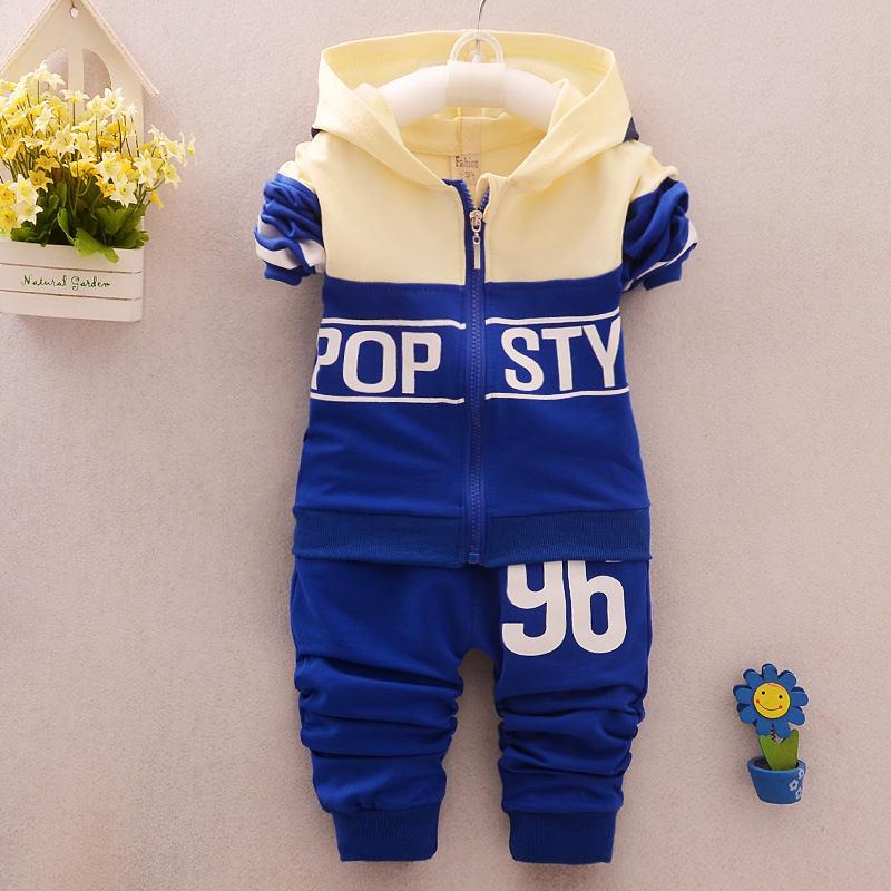 BibiCola baby boys Clothes Suits letter Kids Boys Hoodie Coat + Pants toddler Sport Suit Cotton infat Coats T-Shirts Pants Suit letter print raglan hoodie