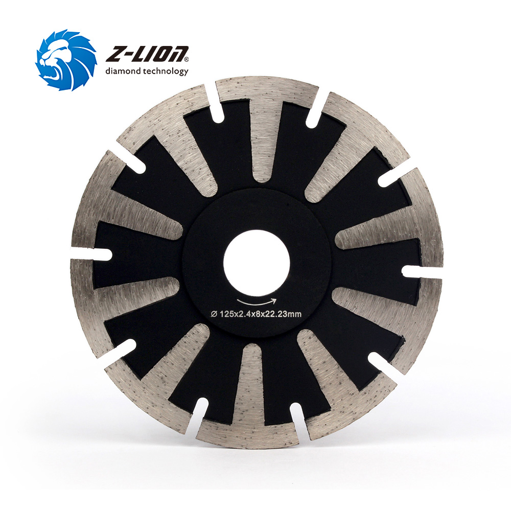 Z-LION 5 Diamond Saw Blade T Segment Granite Stone Concrete Cutting Disc Professional Fast Cutting Tool Circular Saw Blade
