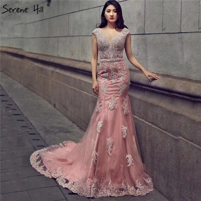 058f69ceb Feijão vermelho Fotografia Tema Vestido De Noiva Sereia Profunda-V Beading  Cristal Sexy Vestidos de
