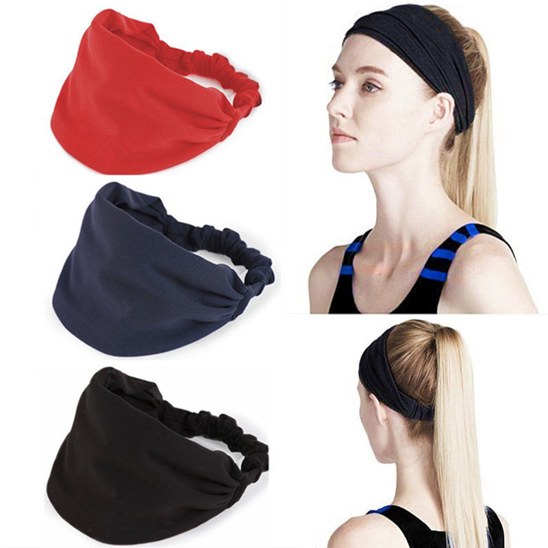 Girls Lace Pattern Elastic Wide Stretch Head-Wrap Bandanna Headbands UK Women