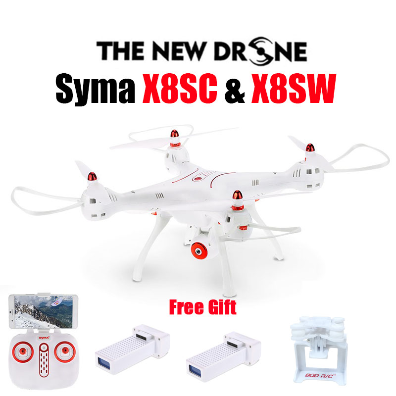 Newest SYMA X8SW RC Drone 2.4G 4CH 6-Axis Quadcopter With FPV Wifi Camera or Syma X8SC With 2.0MP HD Camera Rc Helicopter Drone syma x14w 2 4g 4ch 6 axis gyro rc quadcopter with 702p hd camera wifi fpv remote control drone rc helicopter altitude hold