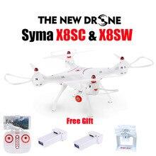 Новые Сыма X8SW Радиоуправляемый Дрон 2,4 г 4CH 6 оси Quadcopter с FPV Wi-Fi Камера или SYMA X8SC с 2.0MP HD Камера вертолет Drone