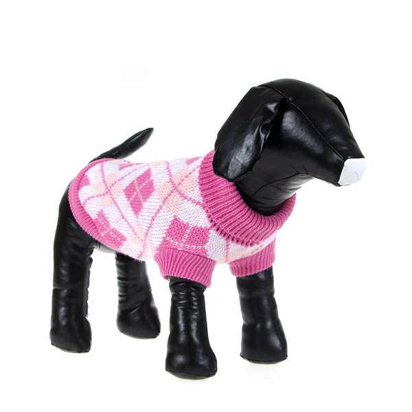 2018 новая милая домашняя собака теплая джемпер, свитер Одежда для щенка, котика трикотажное пальто одежда