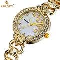 Luxury Brand KINGSKY Quartz Watch Women Popular Ladies Watches Casual Fashion Gold Wristwatch Reloj Mujer Relogio Feminino 2016