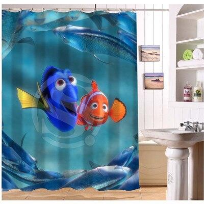 YY612f 161 New Custom Finding Nemo 03 Cartoon Modern Shower Curtain Bathroom  Waterproof LJ W$161 In Shower Curtains From Home U0026 Garden On Aliexpress.com  ...