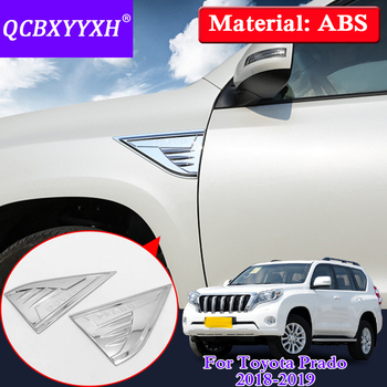 QCBXYYXH For Toyota Prado 2018 Car Styling Car Air Outlet Shark Gills Stickers Side Vent Flow Sequins Cover Accessories