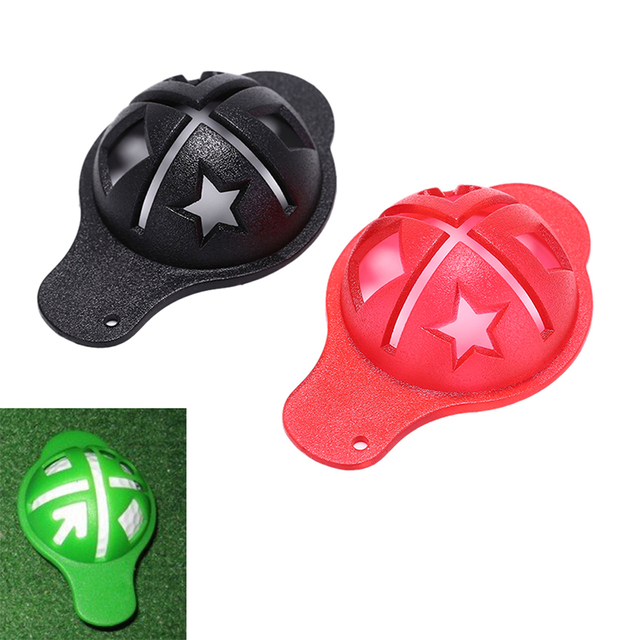 2 צבעים תבנית מפתח טבעת מכה טי פלסטיק גולף כדור אוניית סמן תבנית