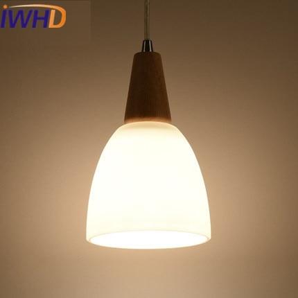 IWHD Nordic Style LED Pendant Lights Modern Hanging Lamp Fashion Kitchen Suspension Luminaire Creative Wood Hanglamp Lampara
