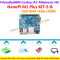 Allwinner H3 Quad-core Cortex-A7 NanoPi M1 Plus Demo Board (1GB RAM,8GB eMMC)+3D Case+Heatsink+USB Cable+8GB SD Card=KIT-E-B